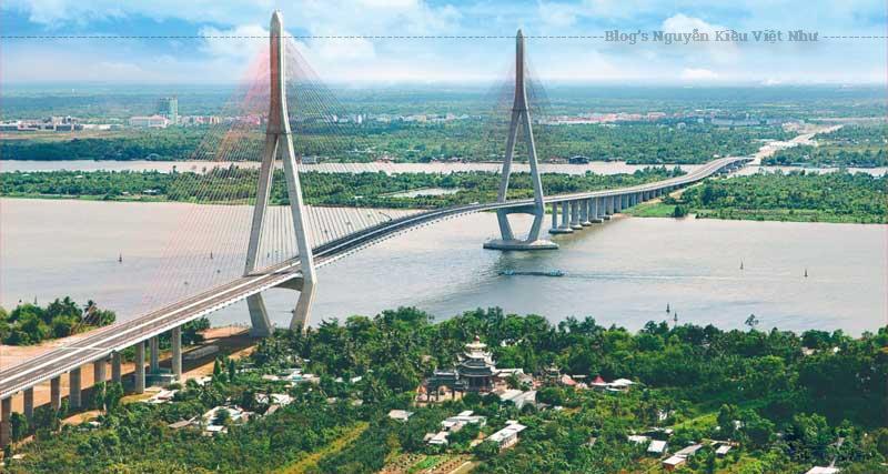Cầu Cần Thơ nắm giữ kỉ lục là cây cầu có nhịp chính dài nhất Đông Nam Á.
