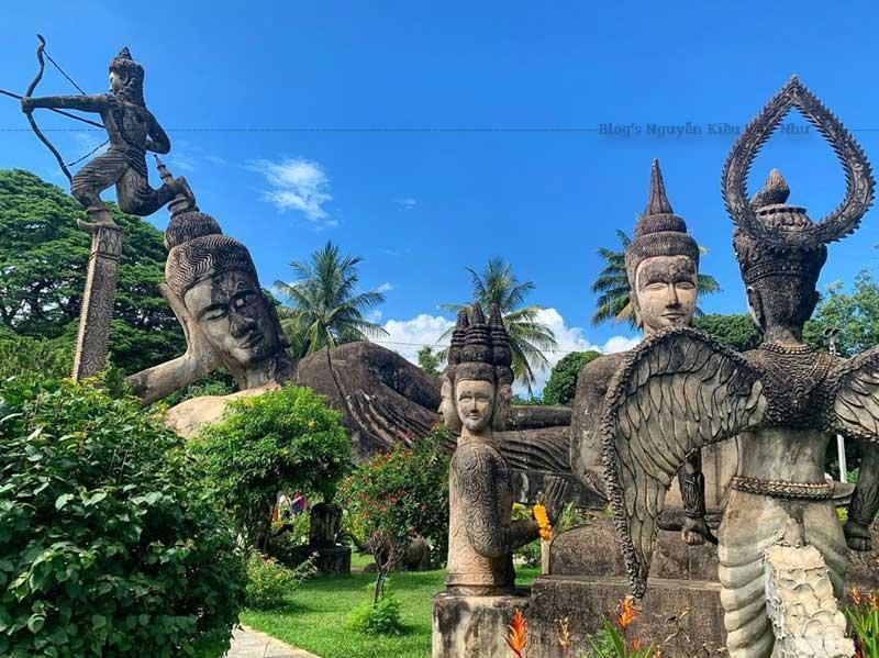 Độc đáo khu Vườn Tượng Phật giữa thủ đô Viêng Chăn Vườn Tượng Phật.