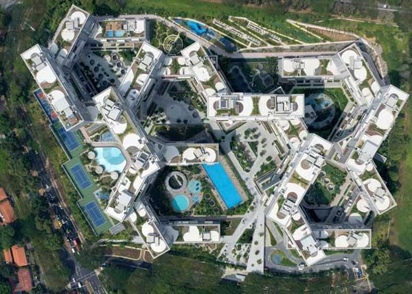 The Interlace được xem là giải pháp mới cho nhà chung cư ở Singapore – nơi có tới 80% dân cư đô thị sống trong nhà chung cư.