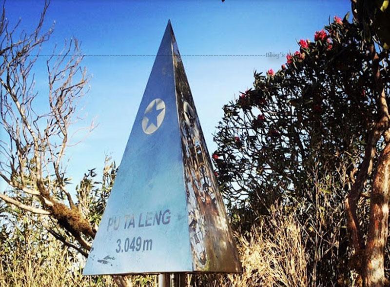 """Cảm giác vỡ òa khi đặt chân lên đỉnh Pu Ta Leng, chinh phục thành công """"Nóc nhà thứ 2"""" của Đông Dương sau một cuộc hành trình tốn sức lực."""