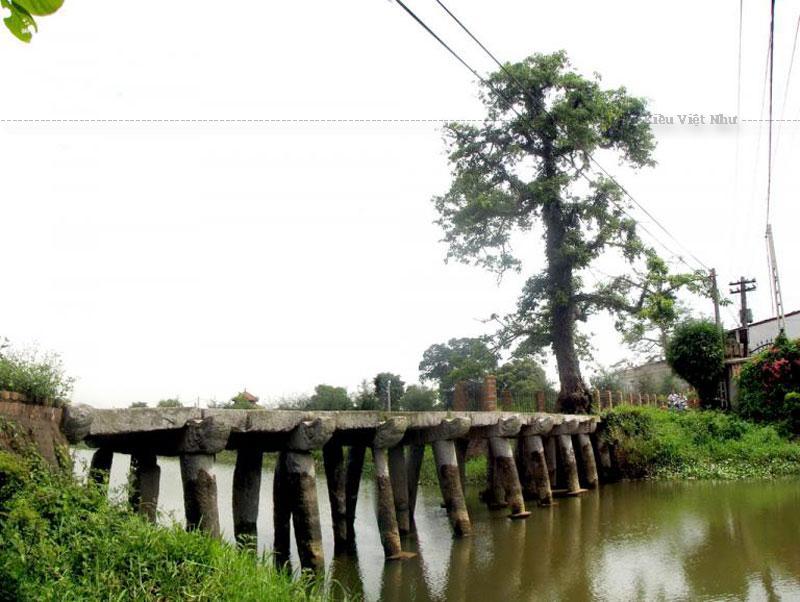 Vào thế kỷ 16, cây cầu này được làm bằng gỗ lim. Đến thời vưa Tự Đức, cầu được người dân làng Nôm xây lại hoàn toàn bằng đá xanh. Cầu được xây 9 nhịp, theo quan niệm của người xưa số 9 tượng trưng cho sự may mắn, viên mãn.