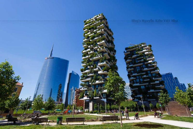 Tòa nhà Bosco Verticale được thiết kế thân thiện nhiều hơn với thiên nhiên và có hệ thống tưới nước thông minh.