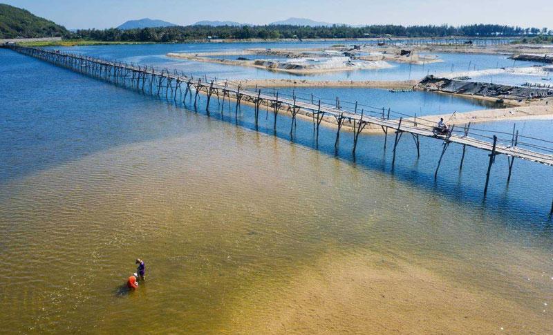 Cầu gỗ Ông Cọp là một trong những địa điểm mang đến cho bạn cảm giác nhẹ nhàng, thanh bình và yên ả, thích thú như đang trôi lênh đênh trên biển nước mênh mông.