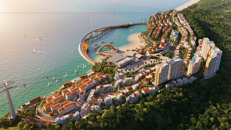 """Trong công trình """"Thị trấn Địa Trung Hải"""" có những bức tường được đầu tư xây dựng như một tác phẩm nghệ thuật."""